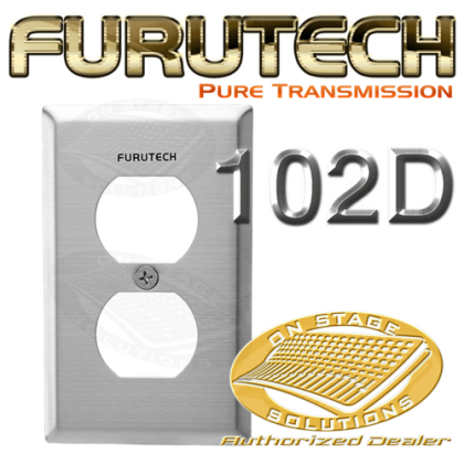 Furutech Outlet Cover Plate 102-D Duplex (1Pc/box)