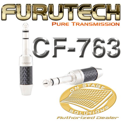 "Furutech CF-763 (R) Stereo Phono Connector 6.3mm (¼"") Rhodium"
