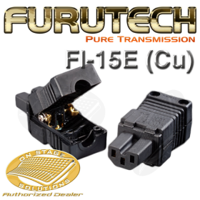 Furutech Fi-15E (Cu) Un-plated Pure Copper IEC Power Plug