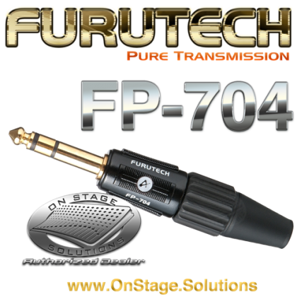 "Furutech FP-704 ¼"" TRS (Stereo) Connector"
