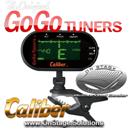 GoGo Tuners Caliber Clip-On Chromatic Tuner