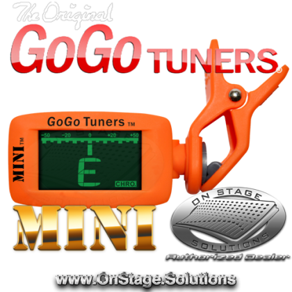 "GoGo Tuners ""The Mini"" Clip-on Chromatic Tuner"