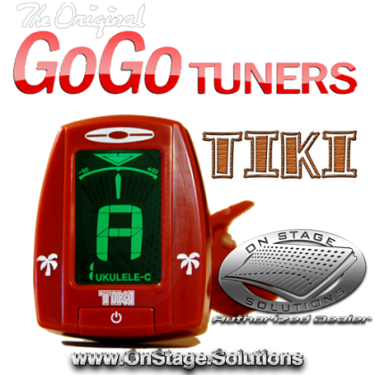 GoGo Tuners Tiki Ukulele Clip-On Chromatic Tuner