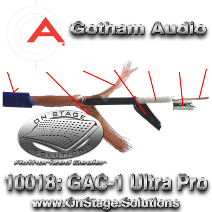 Gotham Audio GAC-1 UltraPro 10018 Instrumental Cable