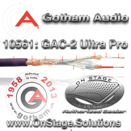 Gotham Audio GAC-2 UltraPro Balanced Cable 10561