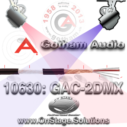 Gotham Audio GAC-2DMX DMX Cable 10630