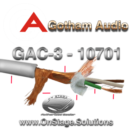 Gotham Audio GAC-3 Balanced Audio Cable 10701