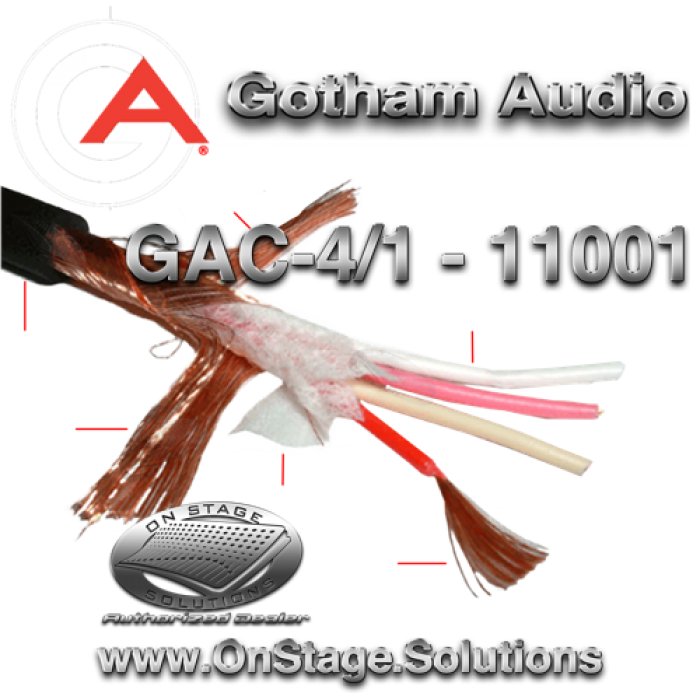 gotham audio gac 4 1 11001 star quad cable