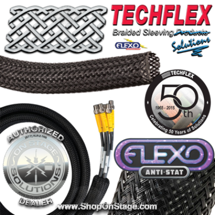 Techflex Flexo Anti-Stat (CNN) Conductive Expandable Sleeving