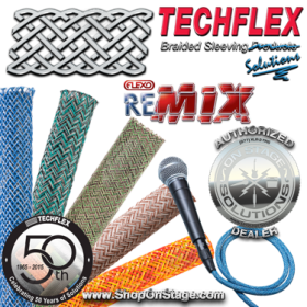 "Techflex Flexo reMix (PTM) ⅜"" Braided Cable Sleeve"