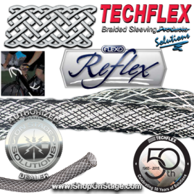 Techflex Flexo Reflex (RFN) Reflective Braided Sleeving