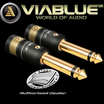 "ViaBlue T6s ¼"" (6.3mm) Phono Plugs Mono (2 pcs)"