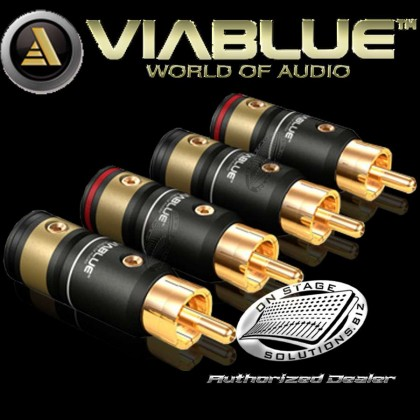 ViaBlue T6s RCA Plugs (2 pairs) Solder Version