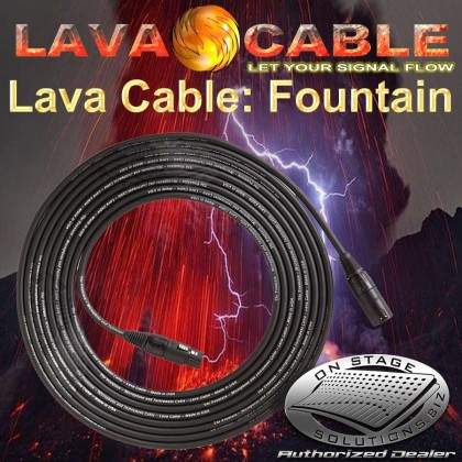 Lava Cable Fountain™ Balanced Mic Cable [15']