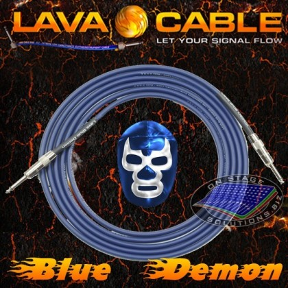 Lava Cable Blue Demon Instrument Cable [10']