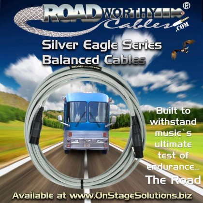 "Roadworthy Cables™ ""Silver Eagle Series"" balanced cables"