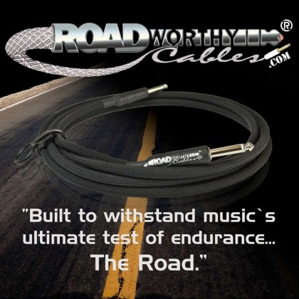 "Roadworthy Cables™ ""French Quarter Series"" instrument cables"