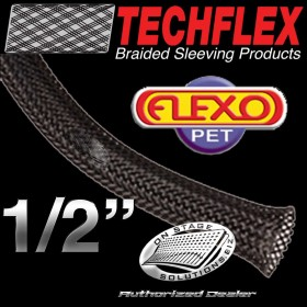 "Techflex Flexo PET 0.50"" Braided Sleeving"