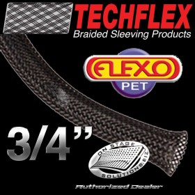 "Techflex Flexo PET 0.75"" Braided Sleeving"