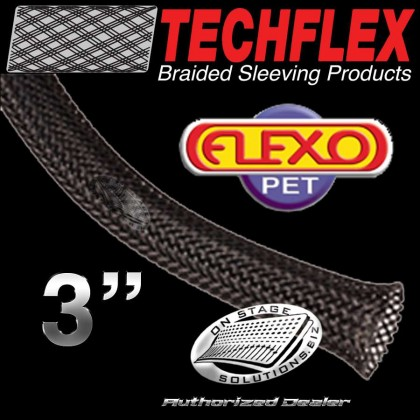 "Techflex Flexo PET 3"" Braided Nylon Sleeving"