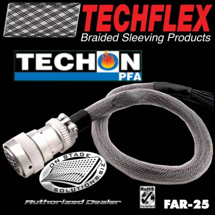 Techflex Techon PFA Teflon Braided Cable Sleeve
