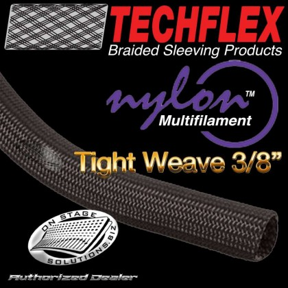 Techflex Nylon Multifilament Tight-Weave Braided Sleeving ⅜""
