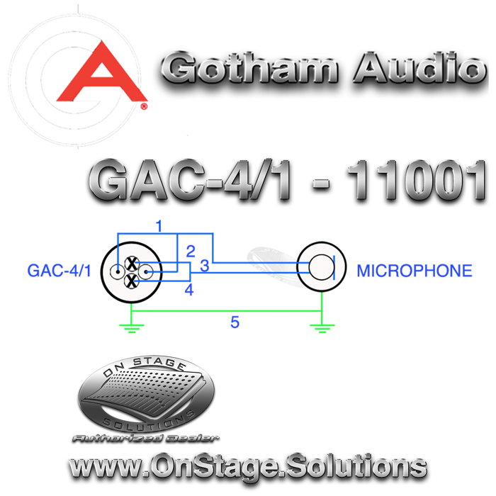gotham audio gac 4 1 11001 star quad cable microphone wiring diagram quad wiring