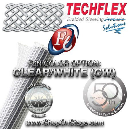 Techflex Flexo F6 color option: Clear/White