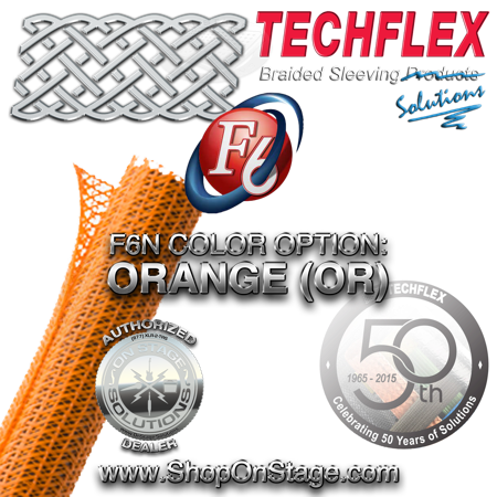 Techflex Flexo F6 color option: Orange