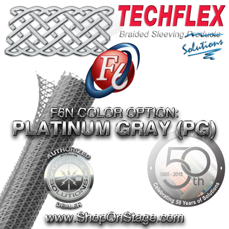 Techflex Flexo F6 color option: Platinum Gray
