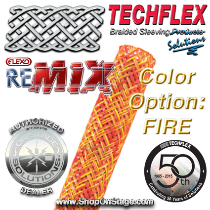 Techflex Flexo ReMix color option: Fire