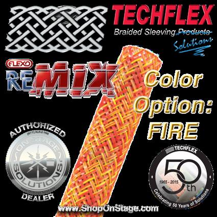 Techflex Flexo ReMix color option: Fire