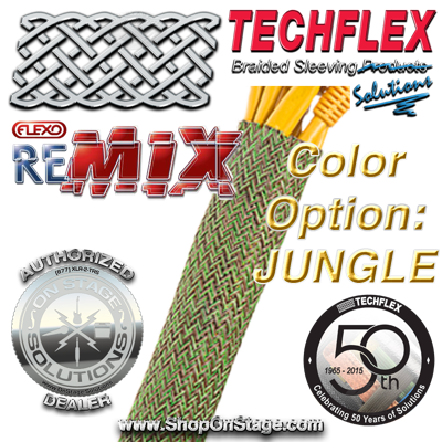 Techflex Flexo ReMix color option: Jungle