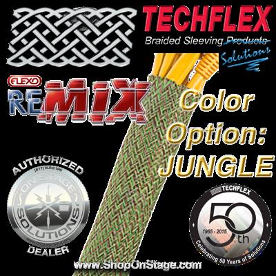 Techflex Flexo ReMix color option: Jungle