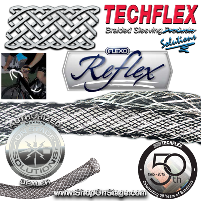 Techflex Flexo Reflex reflective cable, wire, or tube sleeving