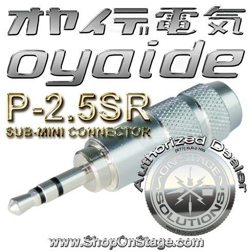 Oyaide P-2.5SR sub-mini 2.5mm audio plug