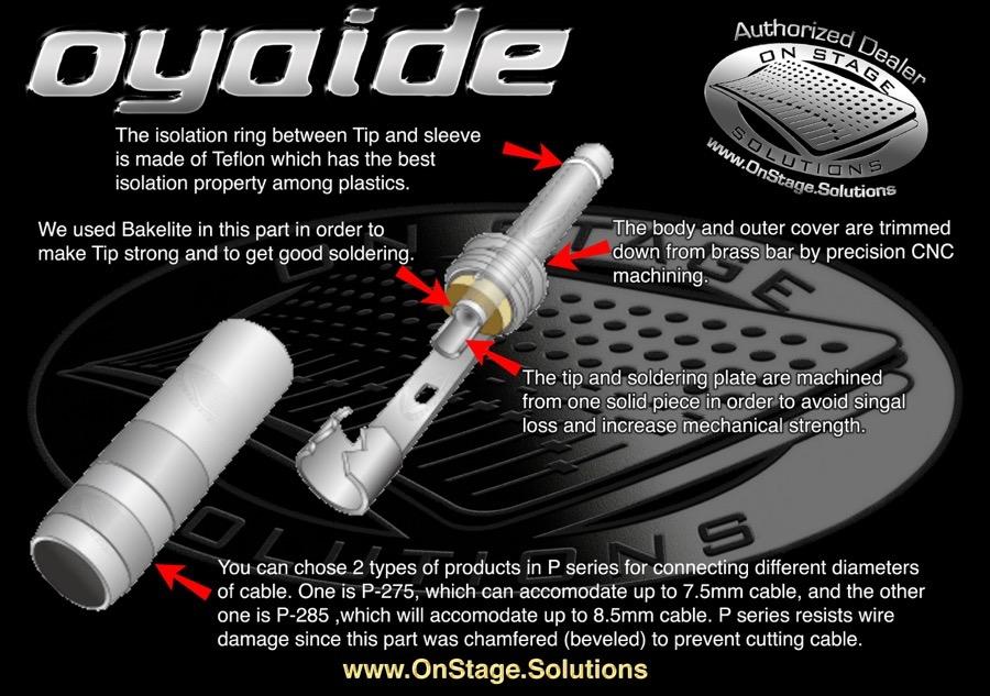 Oyaide P-275 P-285 Illustration details
